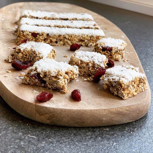 Vegan Cranberry Coconut Protein Bars