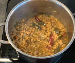 Daal before adding the coconut milk